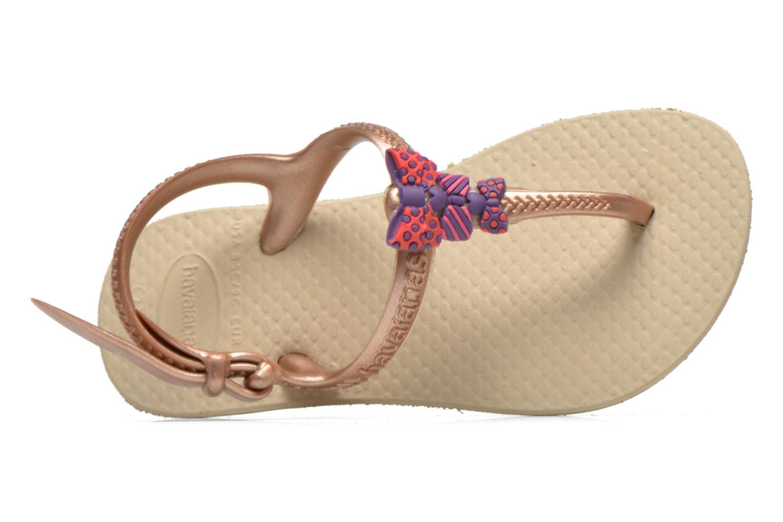 Sandales et nu-pieds Havaianas Kids Freedom Or et bronze vue gauche