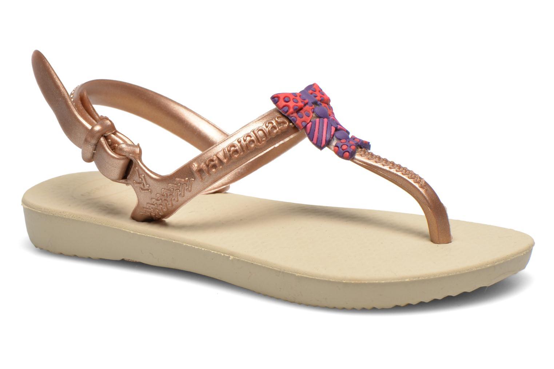 Sandales et nu-pieds Havaianas Kids Freedom Or et bronze vue détail/paire