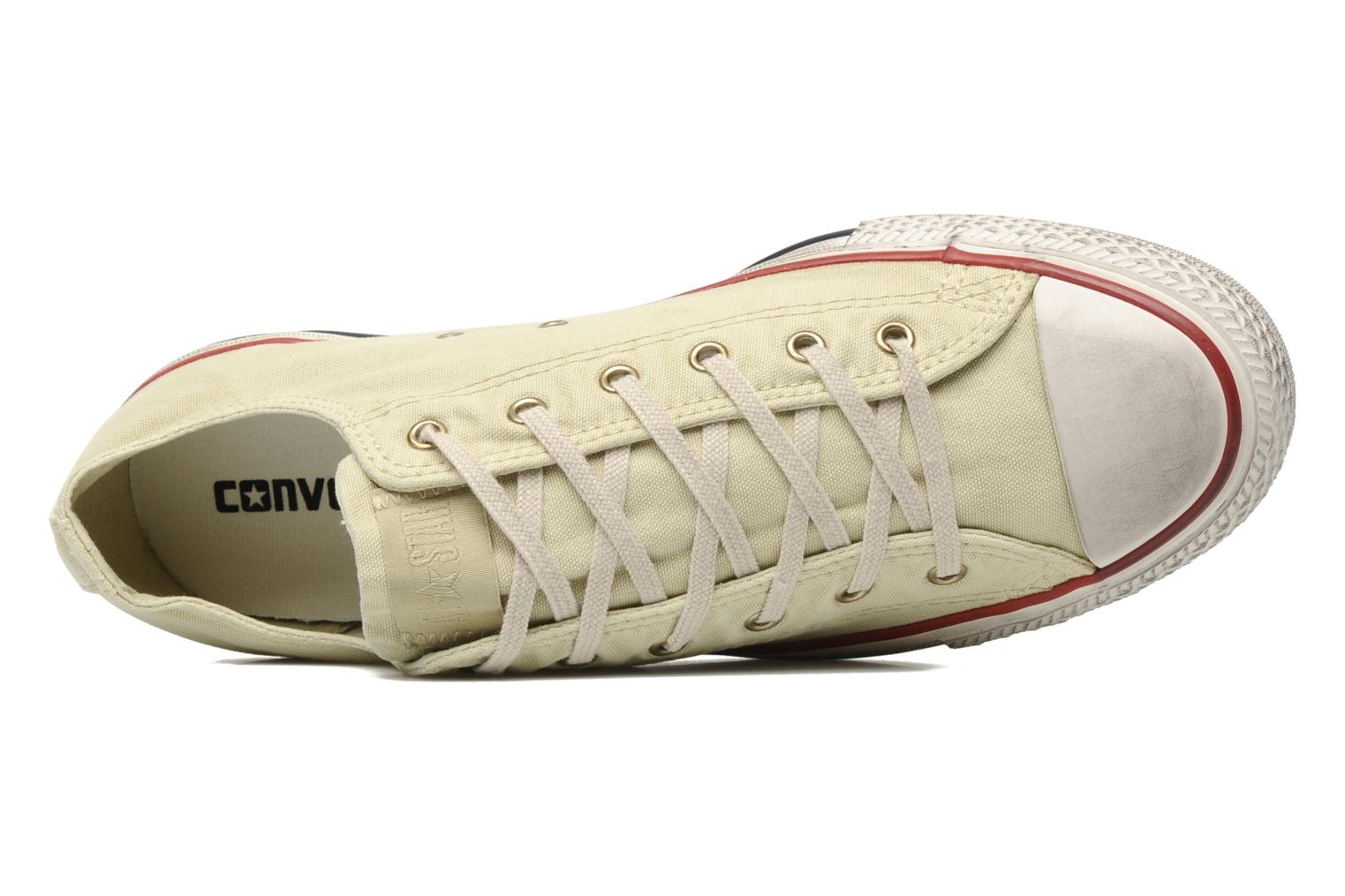 Baskets Converse Chuck Taylor All Star Fashion Washed Ox M Beige vue gauche