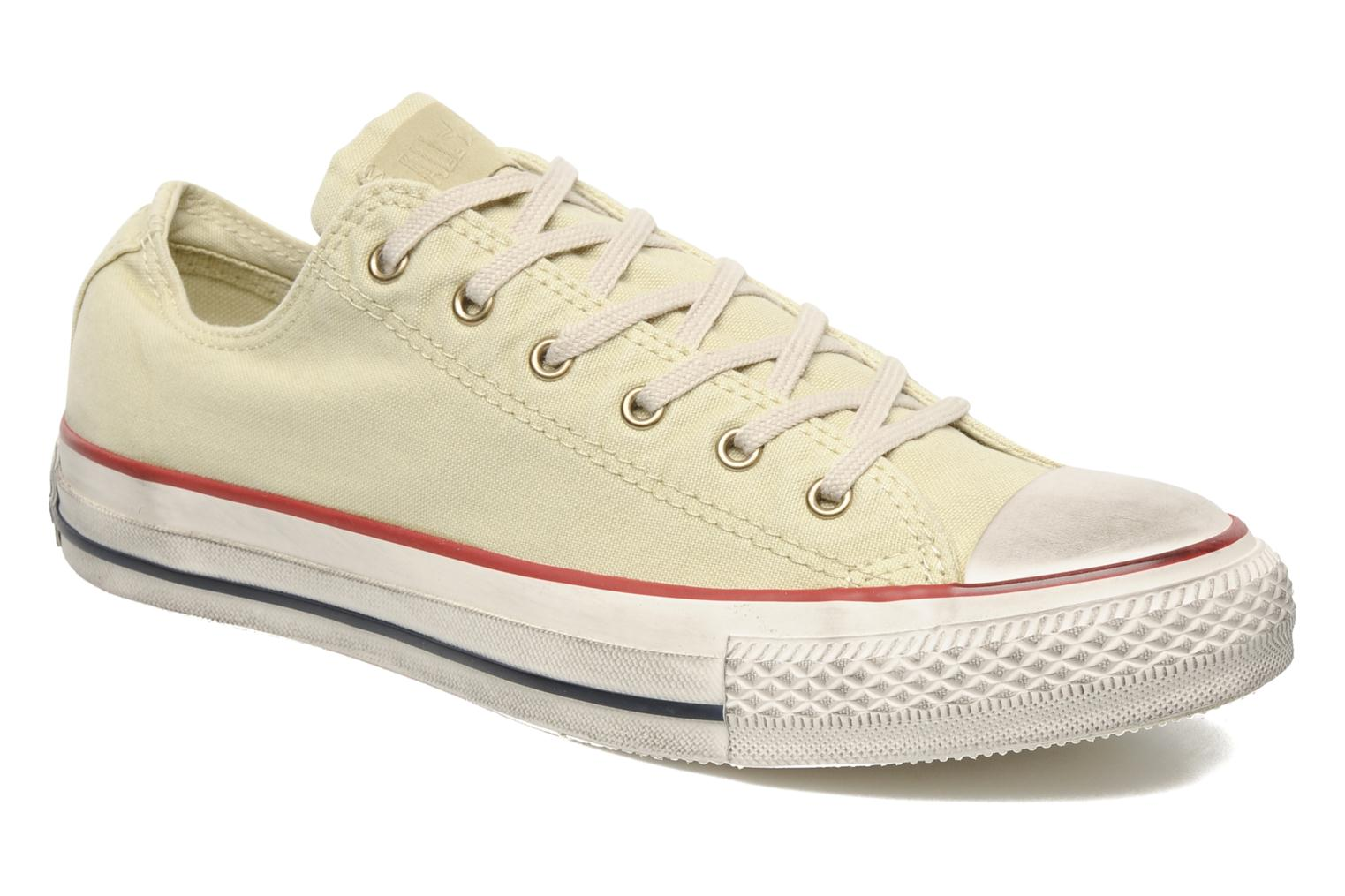 Baskets Converse Chuck Taylor All Star Fashion Washed Ox M Beige vue détail/paire