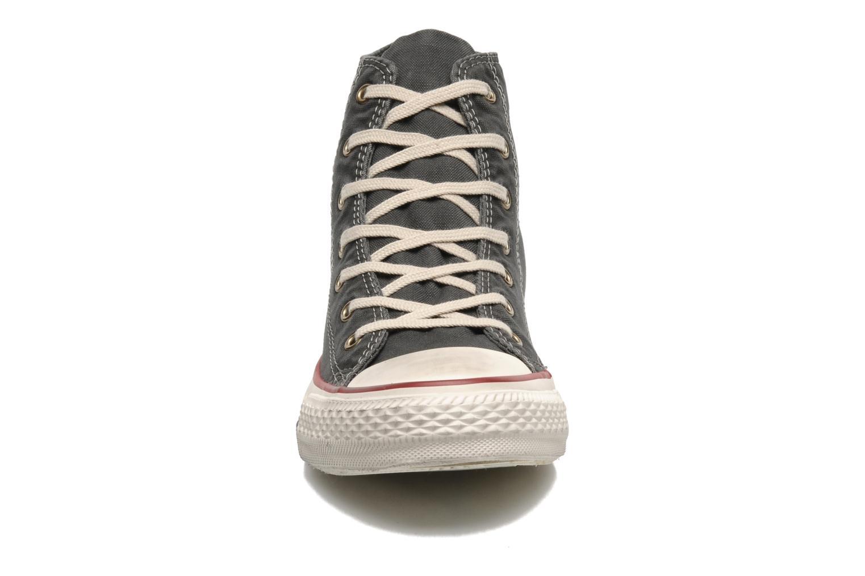 Baskets Converse Chuck Taylor All Star Fashion Washed Hi W Gris vue portées chaussures