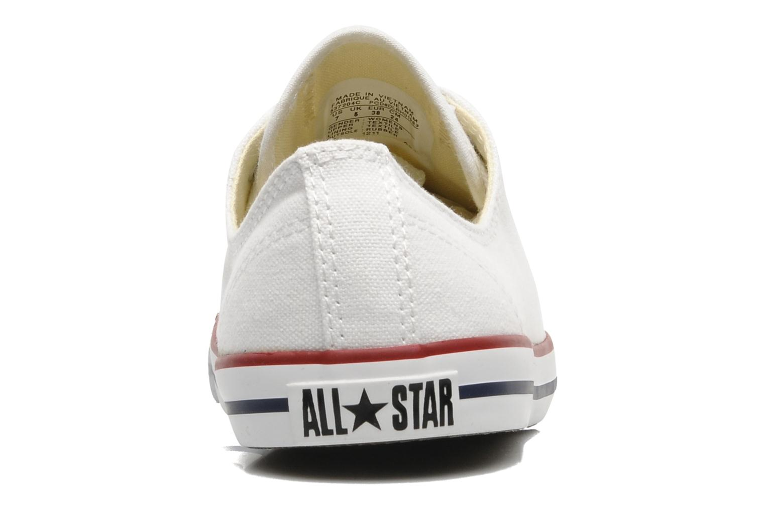 Trainers Converse All Star Dainty Canvas Ox W White view from the right