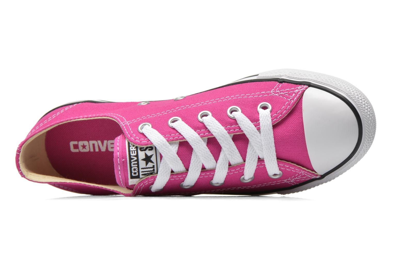 All Star Dainty Canvas Ox W Plastic Pink-Black-White