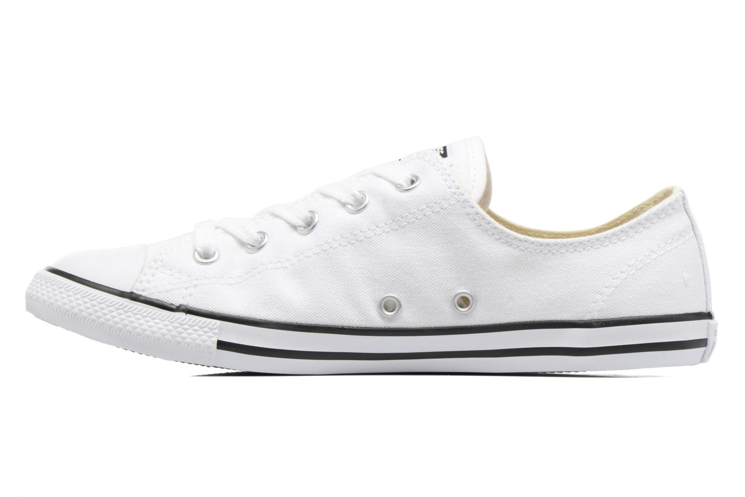 All Star Dainty Canvas Ox W White (black pinstripe)
