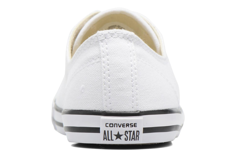 All Star Dainty Canvas Ox W White (black pinstripe)