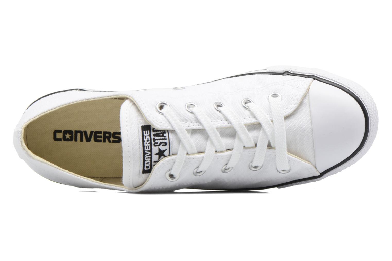 Sneaker Converse All Star Dainty Canvas Ox W weiß ansicht von links