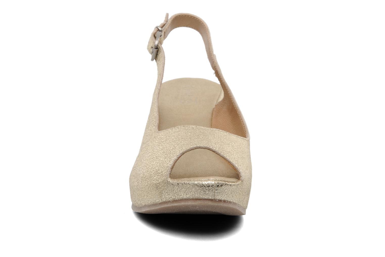 Sandales et nu-pieds Khrio Mendi Or et bronze vue portées chaussures