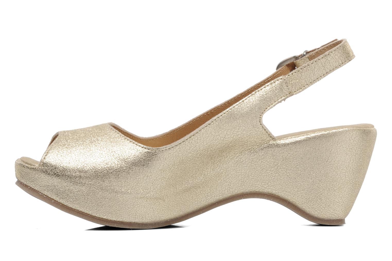 Sandales et nu-pieds Khrio Mendi Or et bronze vue face