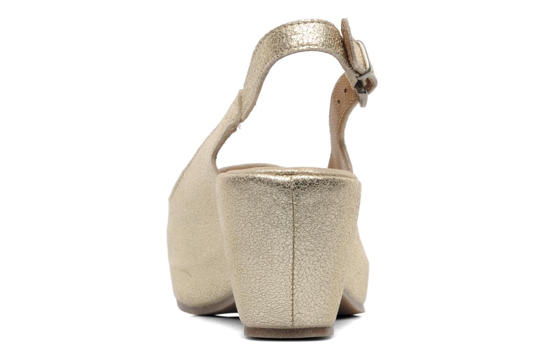Sandales et nu-pieds Khrio Mendi Or et bronze vue droite