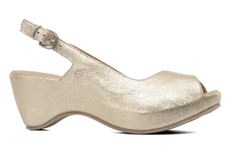 Sandales et nu-pieds Khrio Mendi Or et bronze vue derrière