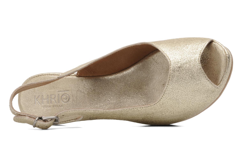Sandales et nu-pieds Khrio Mendi Or et bronze vue gauche