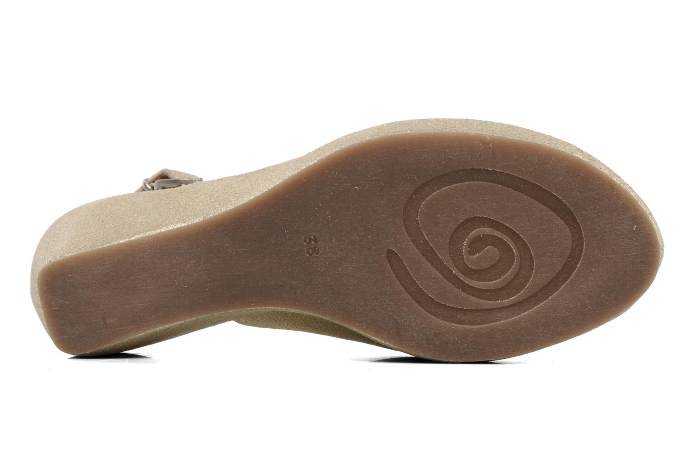 Sandales et nu-pieds Khrio Mendi Or et bronze vue haut