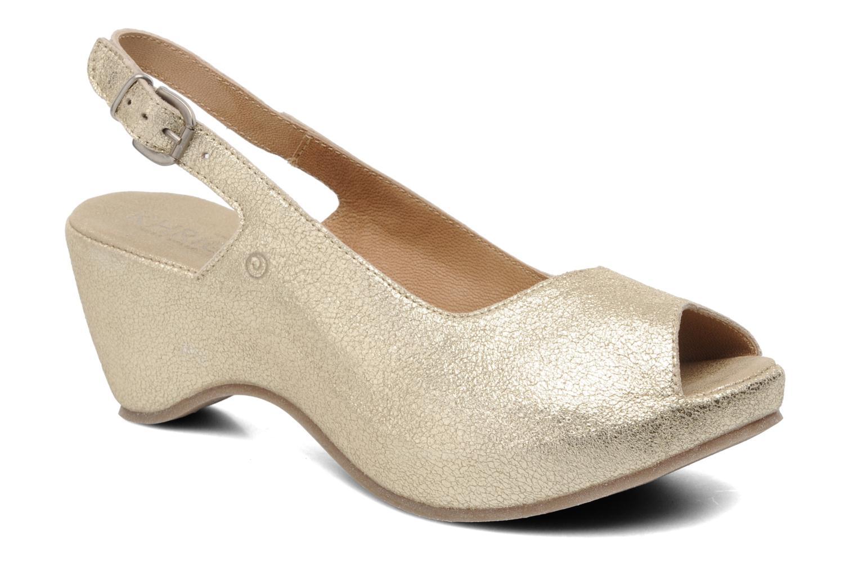 Sandales et nu-pieds Khrio Mendi Or et bronze vue détail/paire