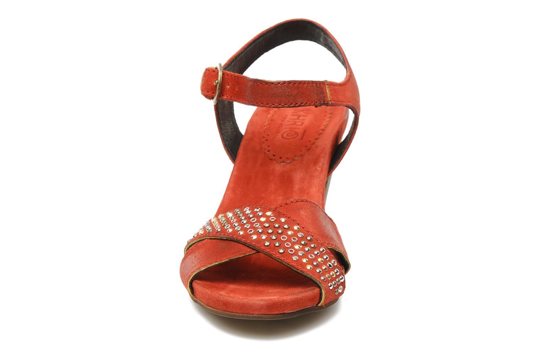 Sandales et nu-pieds Khrio Melton Rouge vue portées chaussures