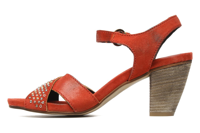 Sandales et nu-pieds Khrio Melton Rouge vue face