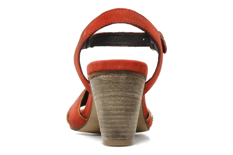 Sandales et nu-pieds Khrio Melton Rouge vue droite