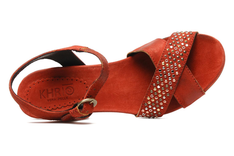 Sandales et nu-pieds Khrio Melton Rouge vue gauche
