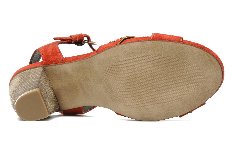 Sandales et nu-pieds Khrio Melton Rouge vue haut