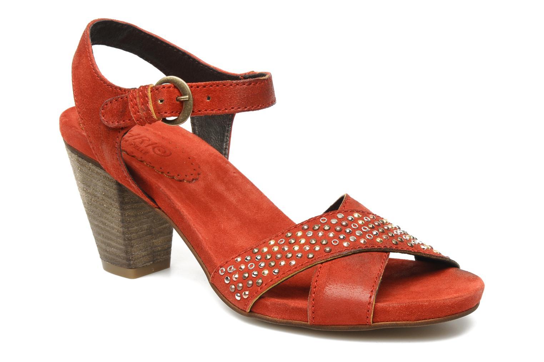 Sandales et nu-pieds Khrio Melton Rouge vue détail/paire