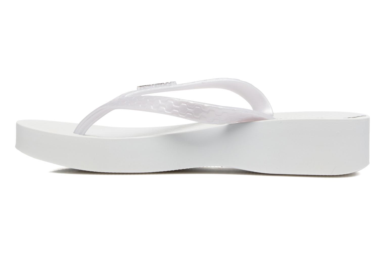 Flip flops Ipanema Brasil Tropical Plat Fem White front view