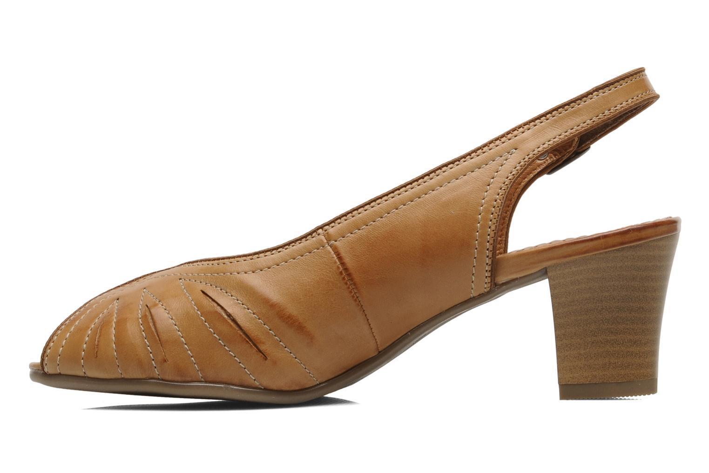 Sandales et nu-pieds Ara VE-S C Marron vue face