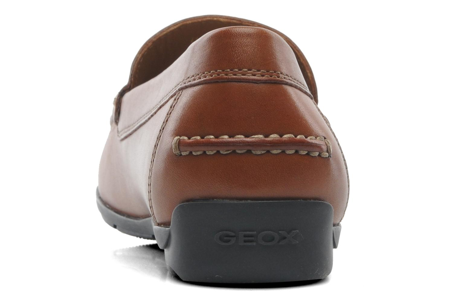 Loafers Geox U SIMON A U32Q3A Brown view from the right