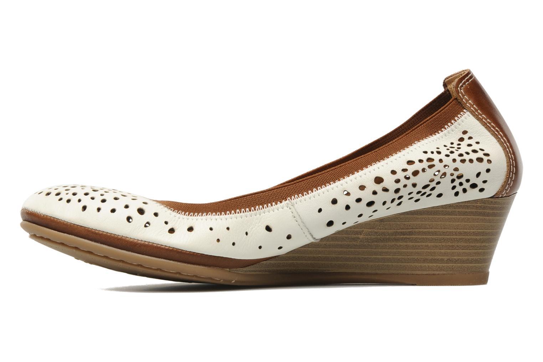 Zapatos de tacón Pikolinos Trento 9410 Blanco vista de frente