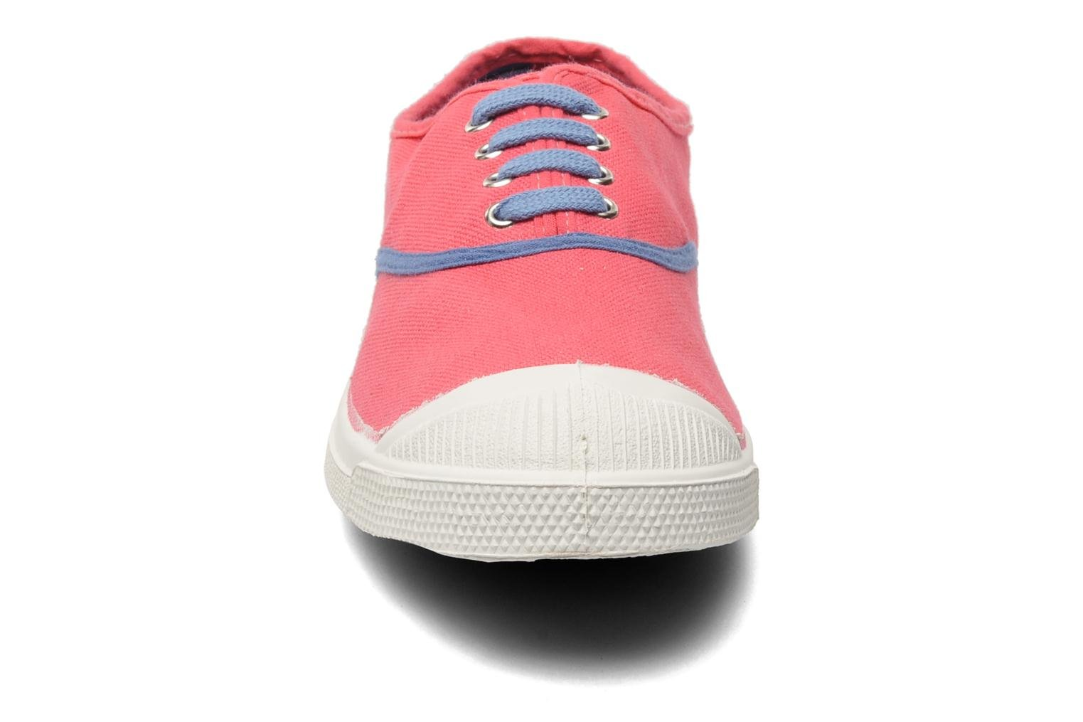 Baskets Bensimon Tennis Colorpiping Rose vue portées chaussures