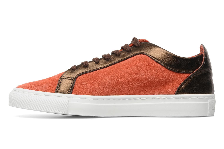 Sneakers Bensimon Flexys Suède/cuir F Röd bild från framsidan