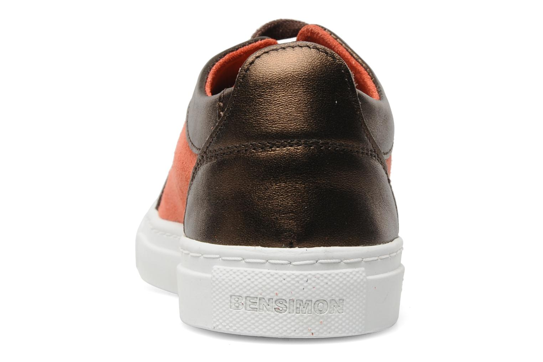 Sneakers Bensimon Flexys Suède/cuir F Röd Bild från höger sidan