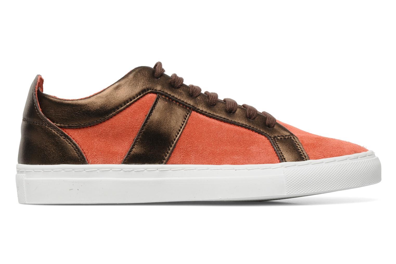 Sneakers Bensimon Flexys Suède/cuir F Röd bild från baksidan