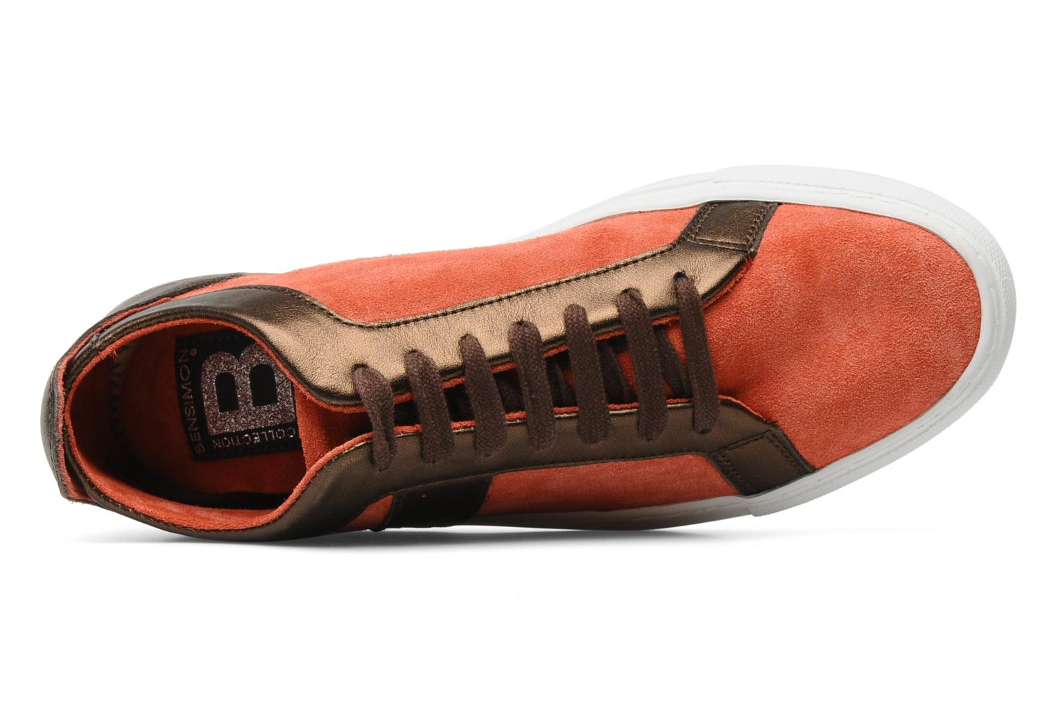 Sneakers Bensimon Flexys Suède/cuir F Rosso immagine sinistra