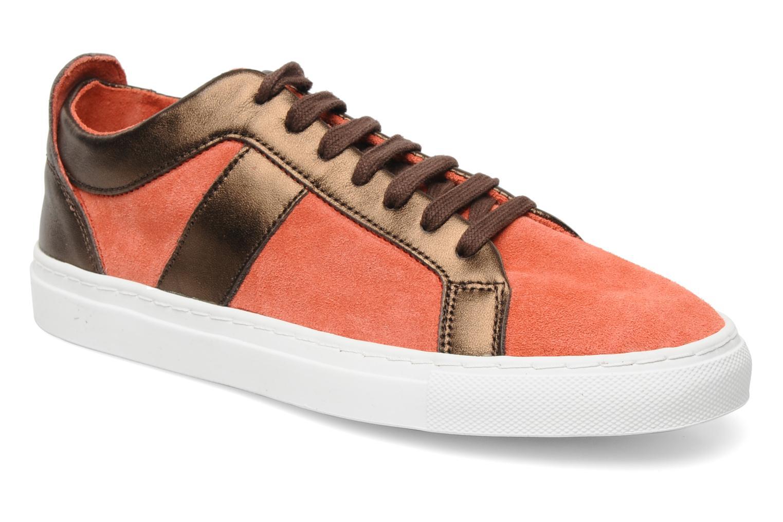 Baskets Bensimon Flexys Suède/cuir F Rouge vue détail/paire