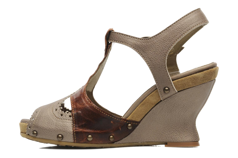 Sandales et nu-pieds Dkode Agnes Marron vue face