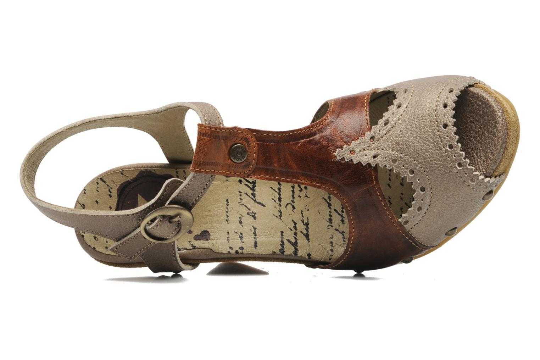 Sandales et nu-pieds Dkode Agnes Marron vue gauche