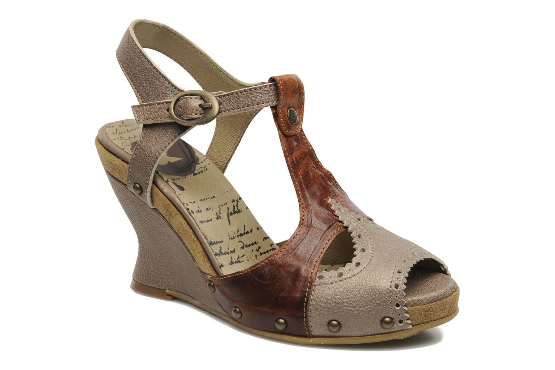 Sandales et nu-pieds Dkode Agnes Marron vue détail/paire