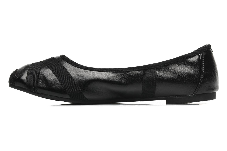 Ballerinas Eclipse Ballerine Danseuse schwarz ansicht von vorne