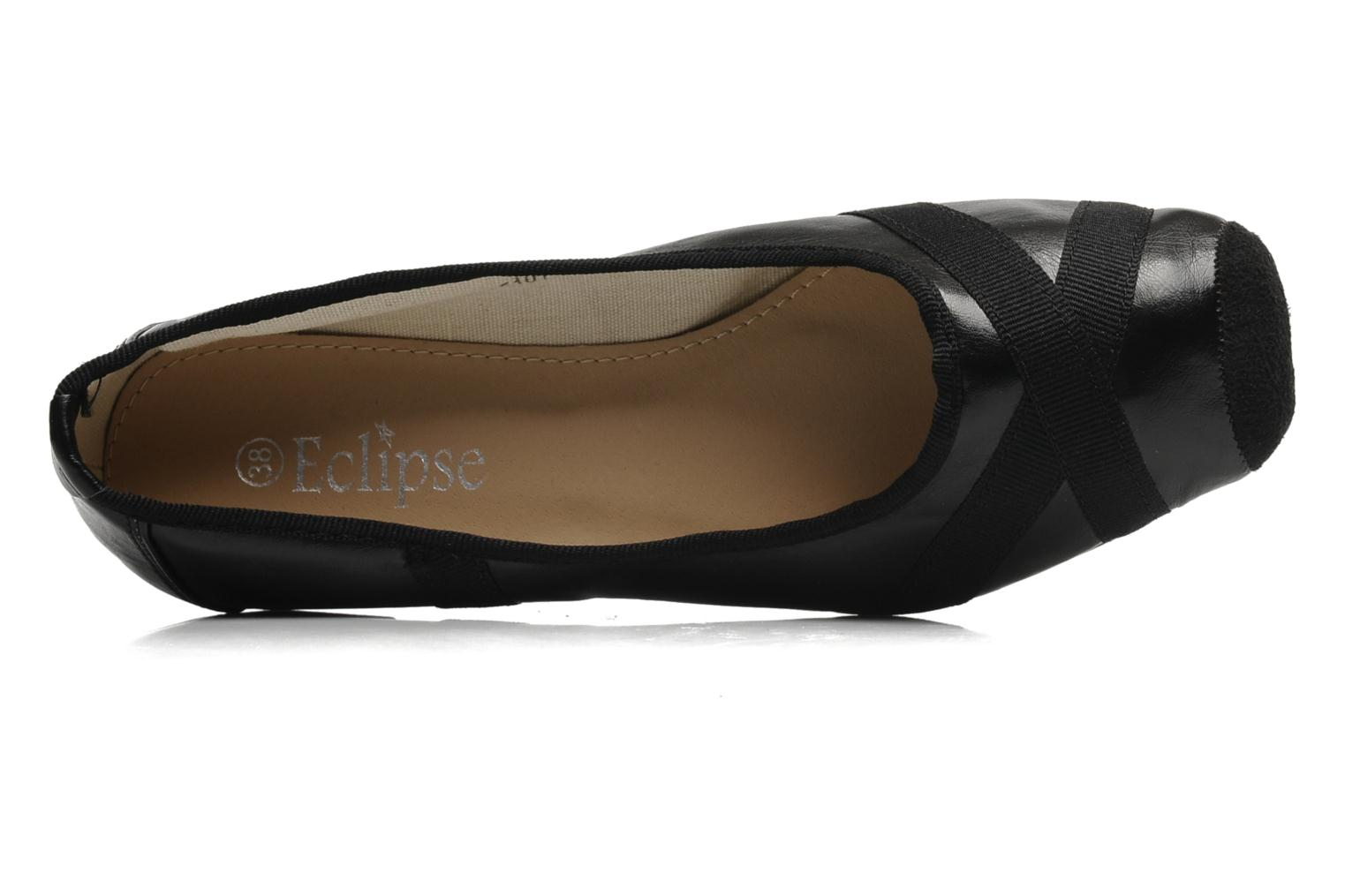 Ballerina's Eclipse Ballerine Danseuse Zwart links