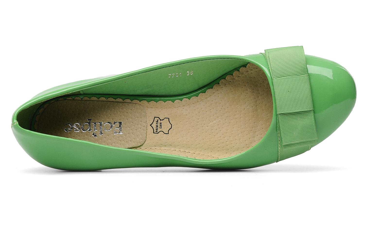 High heels Eclipse Ballerine Clémence Green view from the left
