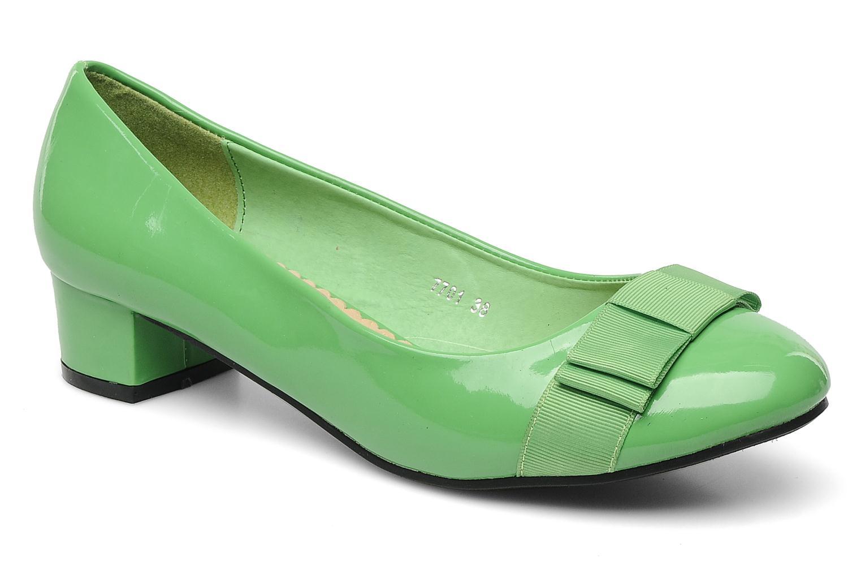 High heels Eclipse Ballerine Clémence Green detailed view/ Pair view