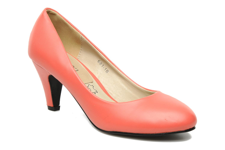 High heels Eclipse Escarpin Moyen Talon Red detailed view/ Pair view