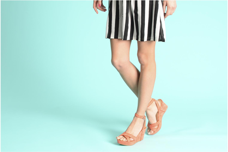Sandales et nu-pieds Georgia Rose VICK Orange vue bas / vue portée sac
