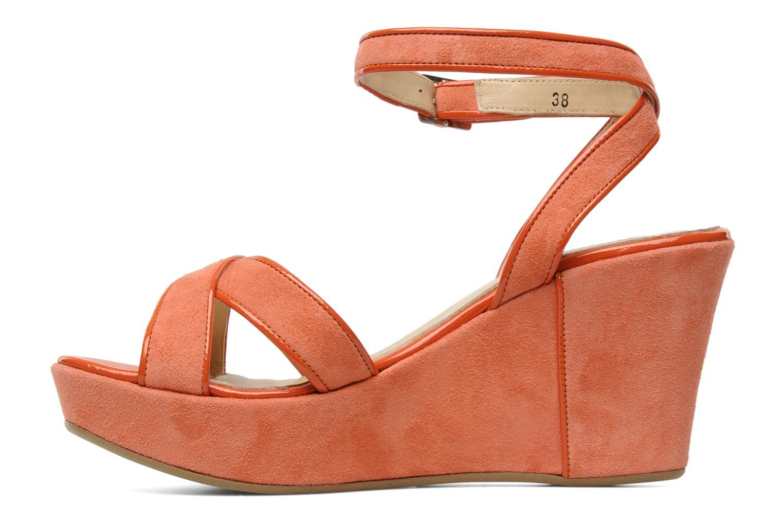 Sandales et nu-pieds Georgia Rose VICK Orange vue face