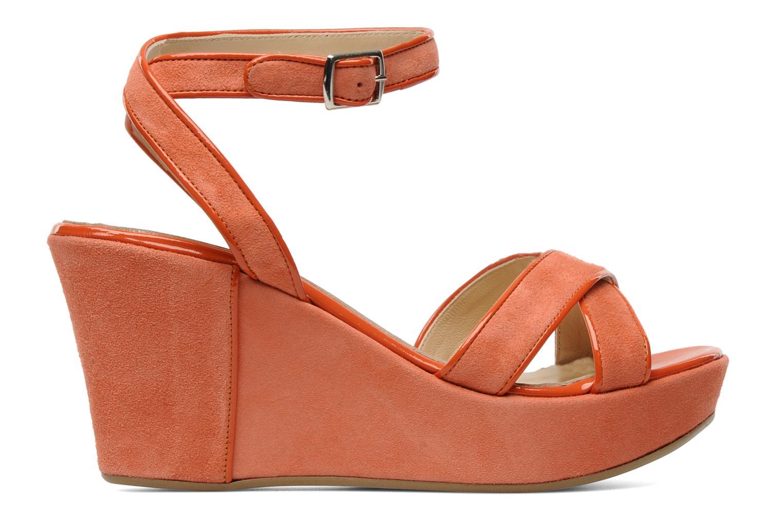 Sandales et nu-pieds Georgia Rose VICK Orange vue derrière