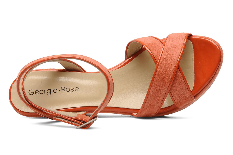 Sandales et nu-pieds Georgia Rose VICK Orange vue gauche