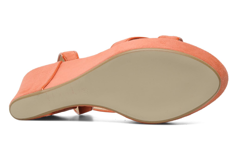Sandales et nu-pieds Georgia Rose VICK Orange vue haut