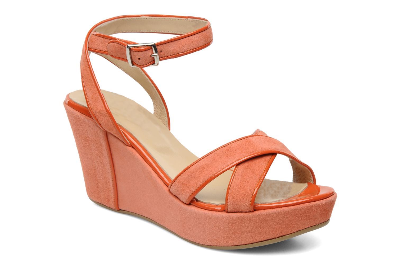 Sandales et nu-pieds Georgia Rose VICK Orange vue détail/paire