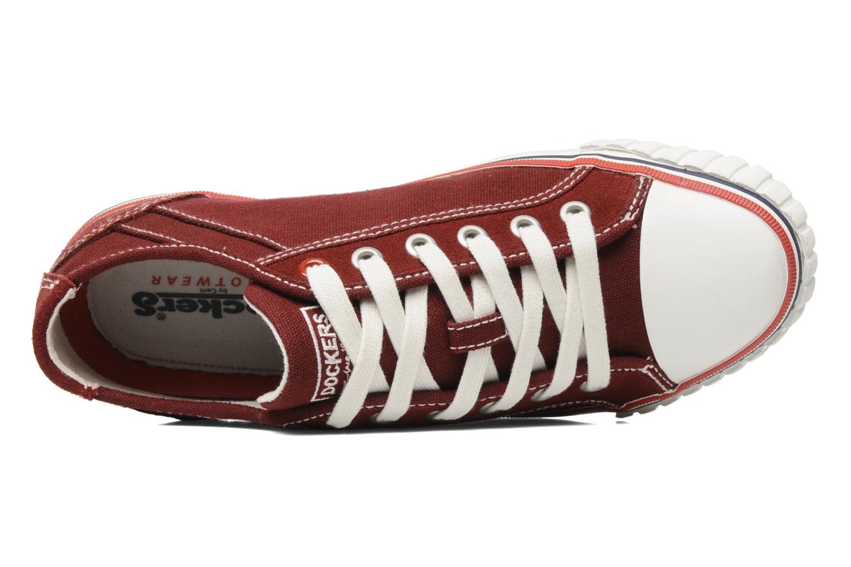 Sneaker Dockers Tonio weinrot ansicht von links