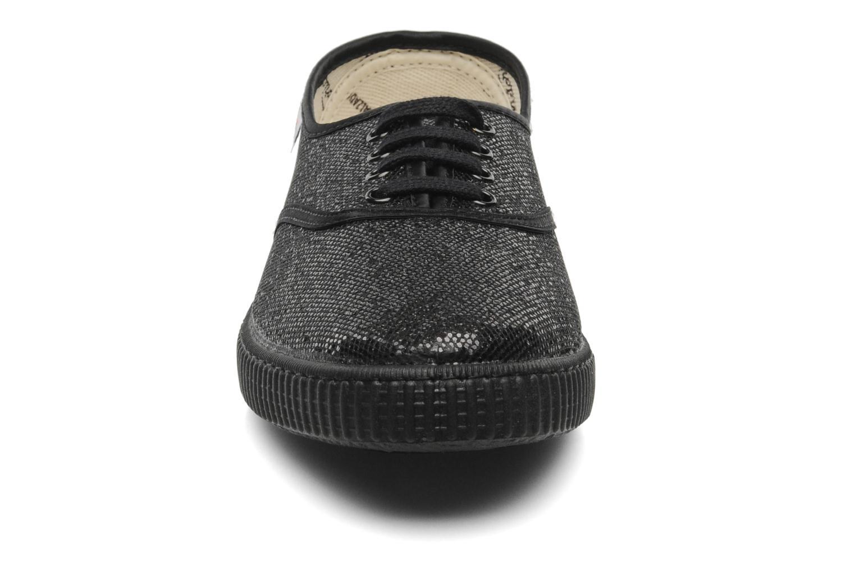 Sneaker Victoria Glitter schwarz schuhe getragen
