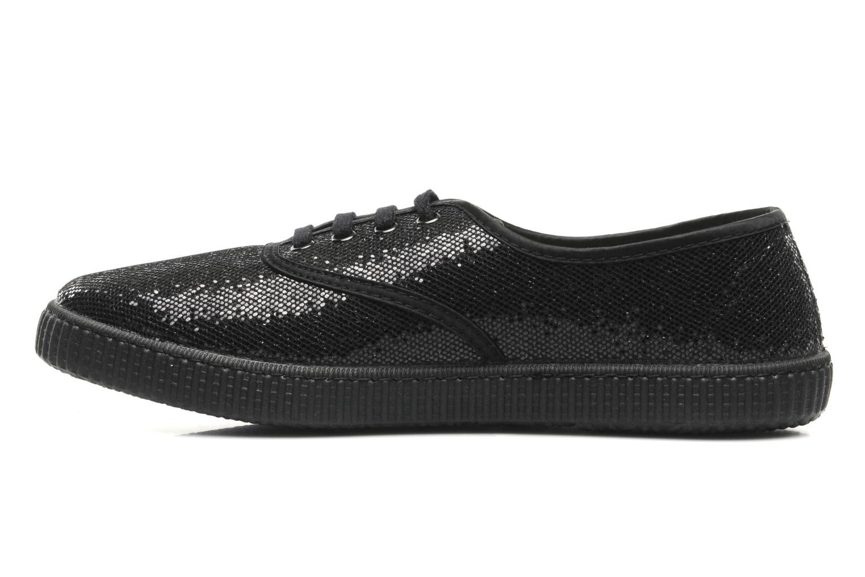 Sneaker Victoria Glitter schwarz ansicht von vorne